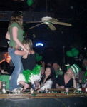 """Chel """"celebrating"""" on the bar St. Patty's party '07"""