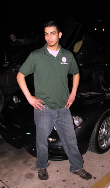 Rael posing with Les's McLaren